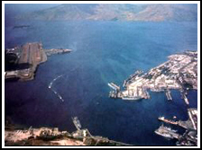 Subic bay bird's eye view